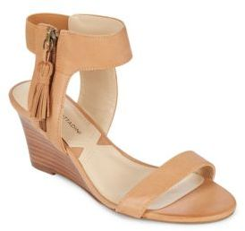 Zipped Leather Wedges $89 thestylecure.com