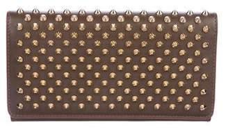 Christian Louboutin Leather Studded Macaron Wallet