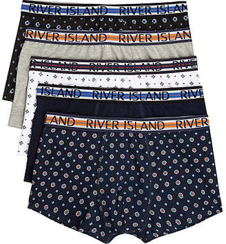 River Island Navy geo print hipsters multipack