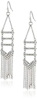 Rebecca Minkoff Pave Fringe Silver Chandelier Drop Earrings