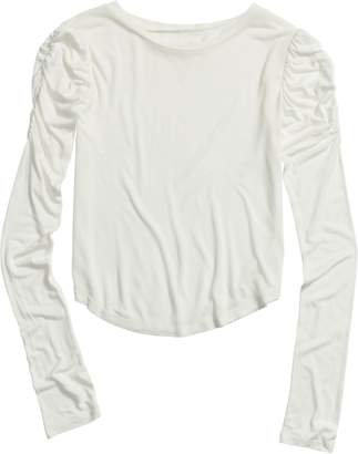 Treasure & Bond Ruched Sleeve T-Shirt