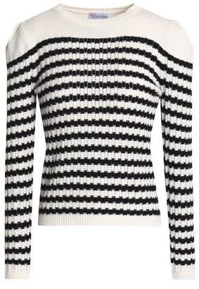RED Valentino Striped Wool And Cashmere-Blend Sweater