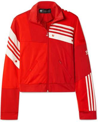 adidas Daniëlle Cathari Snap-embellished Patchwork Jersey Track Jacket - Red