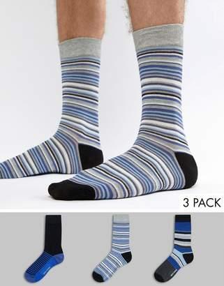 Ben Sherman 3 Pack Patterned Sock