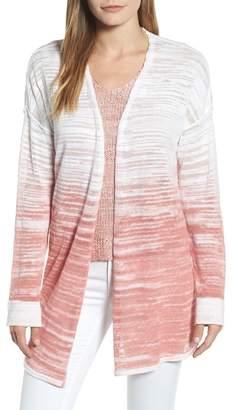 Nic+Zoe Open Breeze Linen Cotton Ombr? Cardigan (Regular & Petite)