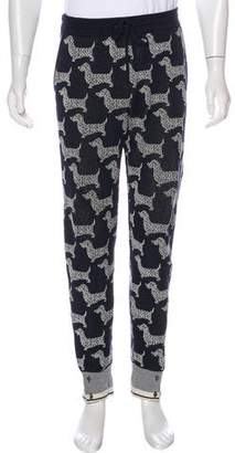Thom Browne Animal Print Joggers