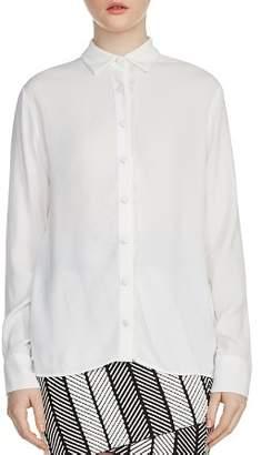 Maje Cosmos Frayed-Trim Shirt