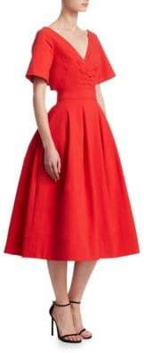 Oscar de la Renta Bow-Back A-Line Dress