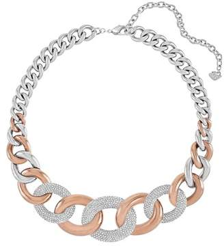 Swarovski Bound Pave Crystal Chunky Chain Necklace