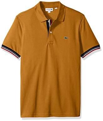 Lacoste Men's Short Sleeve Semi Fancy 2 Ply Pique Polo-Slim Fit