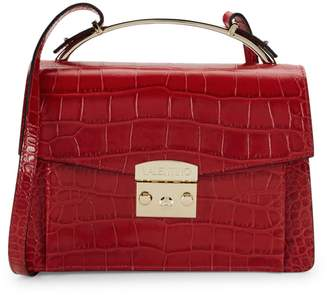 Mario Valentino Valentino By Belle Croco-Embossed Leather Shoulder Bag