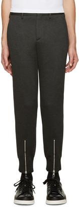 Neil Barrett Grey Neoprene Trousers $575 thestylecure.com