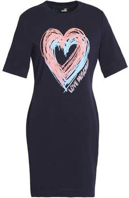Love Moschino Printed Stretch-Cotton Mini Dress