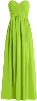 Cdress Women's Long Bridesmaid Dresses Chiffon Sweetheart Prom Dress Evening Formal Gowns US 18W