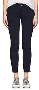 J Brand WOMEN'S HOULIHAN COTTON-BLEND SKINNY CARGO PANTS - NAVY SIZE 31