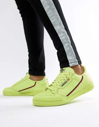 adidas Continental 80's Sneakers In Yellow B41675