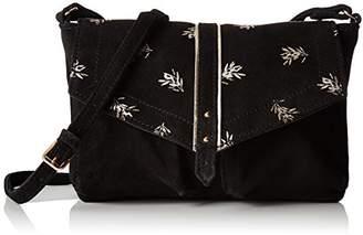 Petite Mendigote Louka Printed, Women's Cross-Body Bag, Noir (), 6x17.5x23 cm (W x H L)