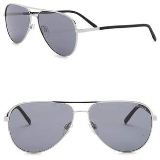 Cole Haan 60mm Polarized Aviator Sunglasses