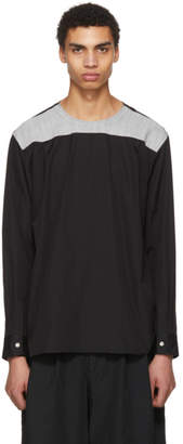 Comme des Garcons Black and Grey Back Yoke Shirt