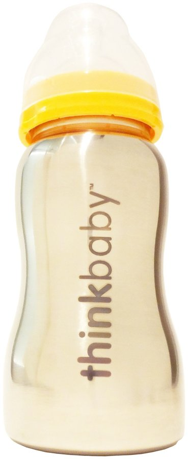 Thinkbaby Thinkbaby of Steel Bottle - Yellow - 9 oz