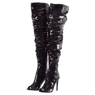 dec3867aa79ce Themost Womens Sequins Sparkly Mermaid Thigh High Over Knee High Heel Boots  Peep Toe Christmas Party