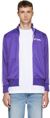 Palm Angels Purple and White Classic Track Jacket