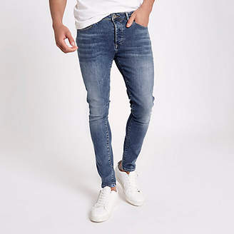 River Island Mid blue Danny super skinny stretch jeans