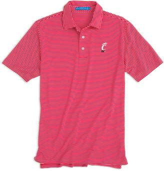 Southern Tide Gameday Stripe Polo - University of Cincinnati