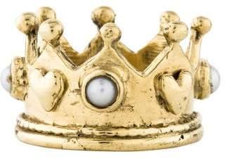 Ring 14K Pearl Crown