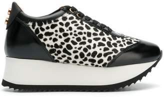 Alexander Smith animal printed platform sneakers