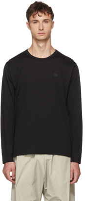 Acne Studios Black Long Sleeve Nash Face T-Shirt