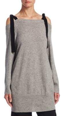 Halston Cold-Shoulder Sweater
