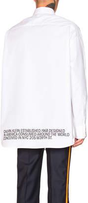 Calvin Klein Script Button Down Shirt