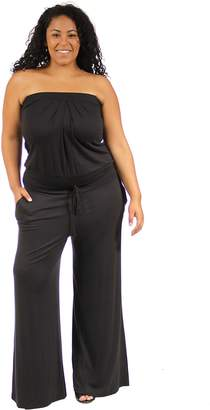 24/7 Comfort Apparel Women's Plus Size Sleeveless Jumpsuit CF526P-L