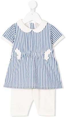 Moncler striped shirt set