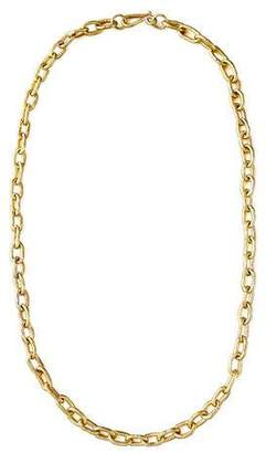 "Ashley Pittman Hammered Bronze Chain Necklace, 36""L"
