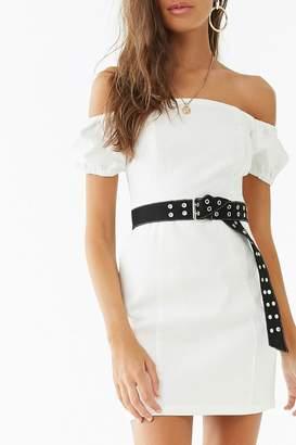 Forever 21 Off-the-Shoulder Denim Dress