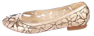 MICHAEL Michael Kors Leather Ballet Flats