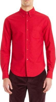 Band Of Outsiders Solid Oxford Shirt
