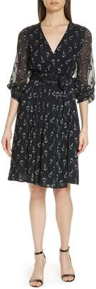 BA&SH Memory Floral Silk Chiffon Dress