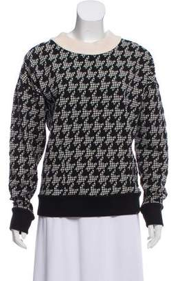 Theory Houndstooth Crew Neck Sweater