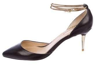 Aquazzura Leather Ankle-Strap Pumps