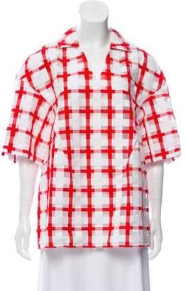 Marni Checked Collared Shirt