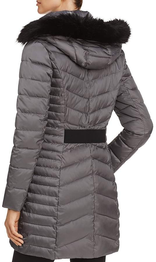 Laundry by Shelli Segal Mixed Quilt Puffer Jacket