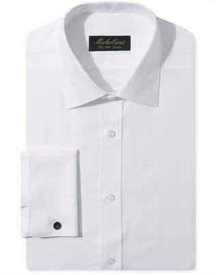 Michelsons Slim-Fit Chevron Textured French Cuff Tuxedo Shirt