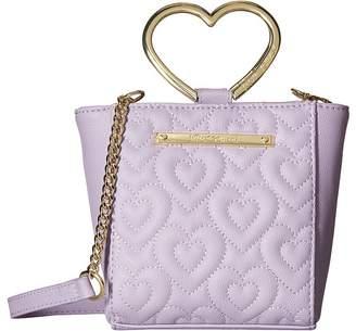 Betsey Johnson Heart Handle Crossbody Cross Body Handbags