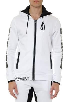 Frankie Morello White Cotton Joaquin Sweatshirt With Prints