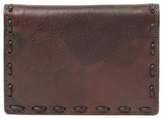 John Varvatos Marble Stained Leather Bifold Card Wallet