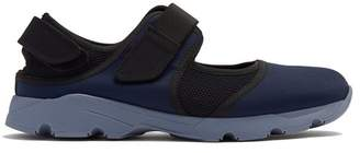Marni Cut Out Low Top Neoprene Trainer - Mens - Navy Multi