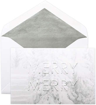 Dempsey & Carroll Winter White Merry Merry with Evergreens Cards